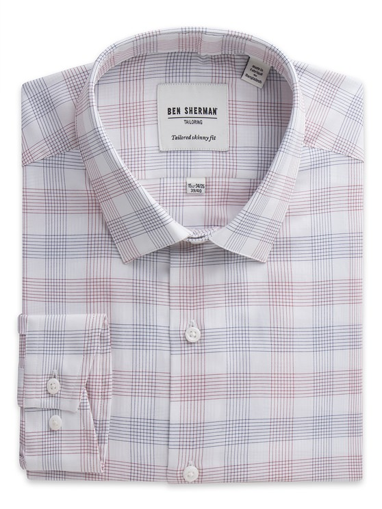Line Check Formal Shirt