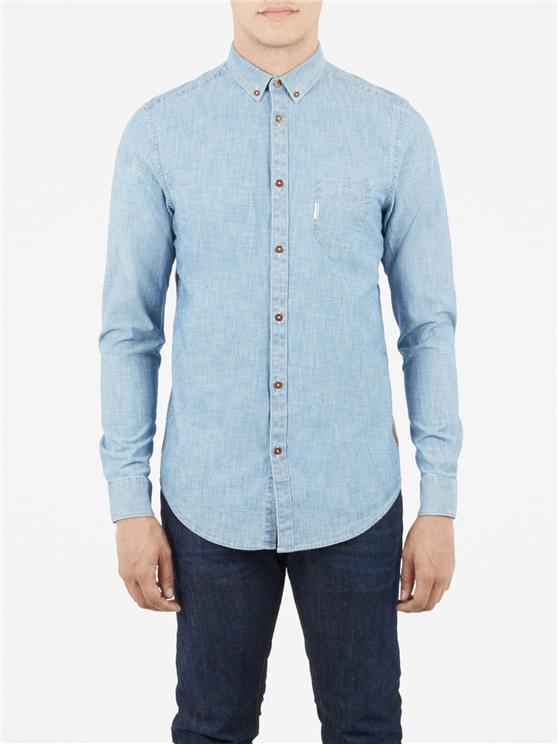 Plain Chambray Long Sleeve Shirt