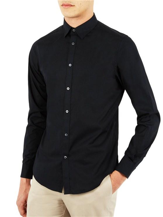 Stretch Poplin Long Sleeve Shirt