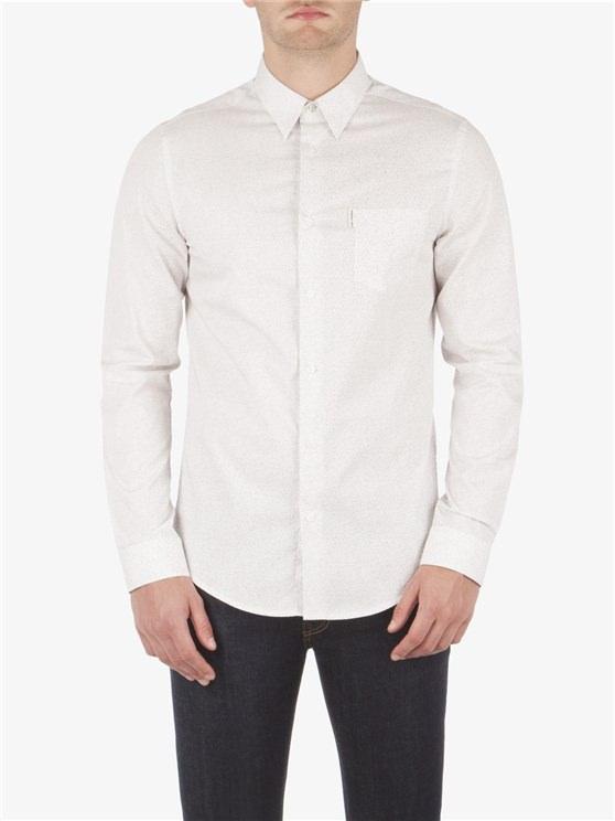 Long Sleeve Static Print Shirt