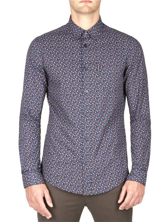 Slim Fit Micro Floral Shirt