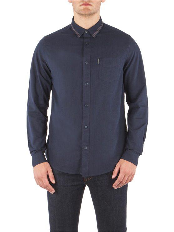Tipped Collar Marl Shirt