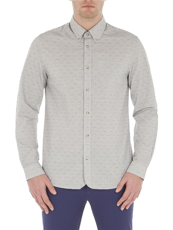 Ash Long Sleeve Two Tone Textured Shirt