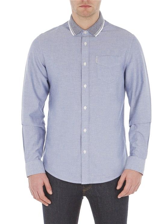 Long Sleeve Flatknit Collar Shirt