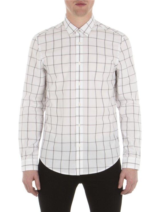 Long Sleeve Windowpane Shirt