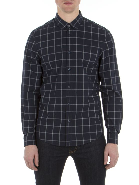 Long Sleeve Windowpane Shirt