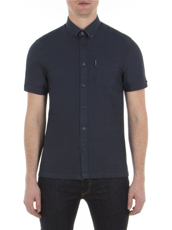 Short Sleeve Slub Twill Shirt
