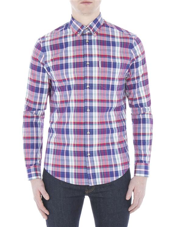 Long Sleeve Madras Check Shirt