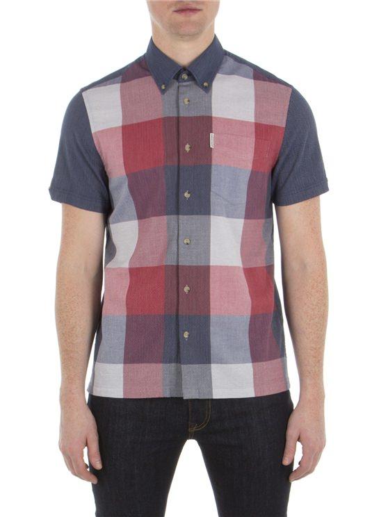 Short Sleeve Front Panel Check Shirt
