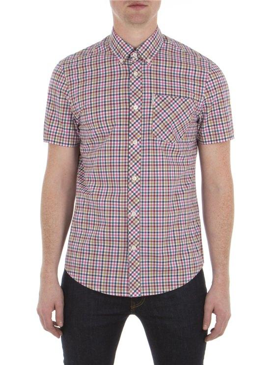 Short Sleeve Multicolour Gingham Shirt