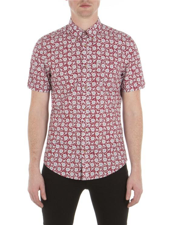 Short Sleeve Bandana Floral Shirt