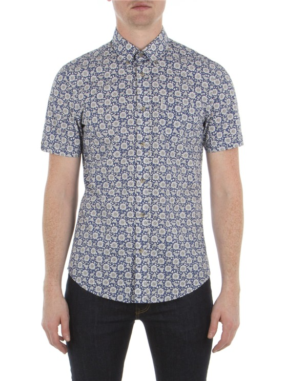 Short Sleeve Bandana Floral Shirt