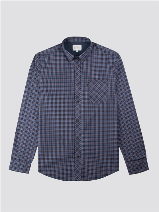 Long Sleeve Windowpane Micro Check