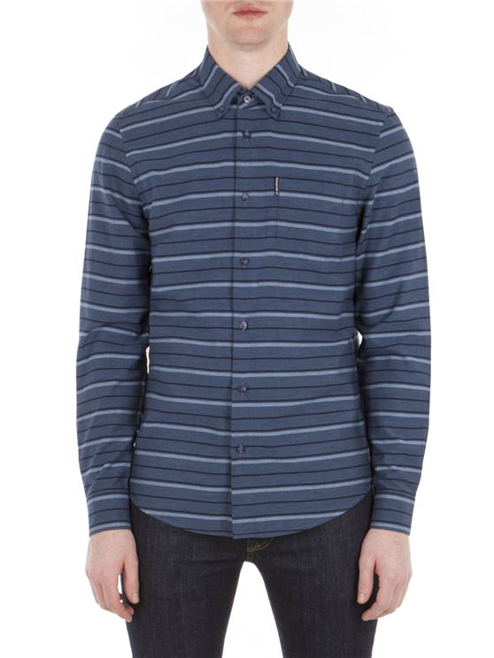Long Sleeve Tipping Horz Stripe Marl