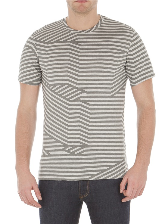Splice Graphic Stripe T-Shirt