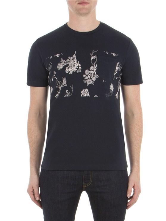 Pique Floral Print T-Shirt
