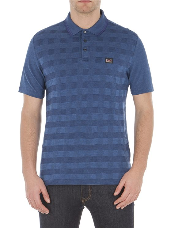 Checkerboard Pique Polo