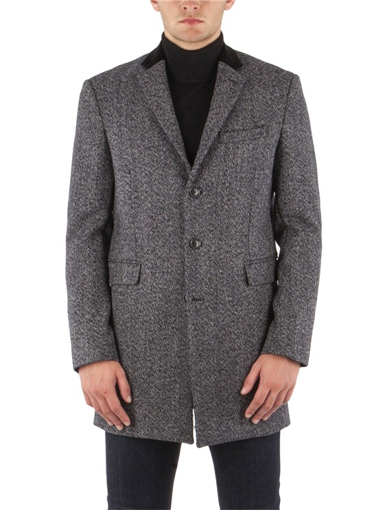 Herringbone Covert Coat