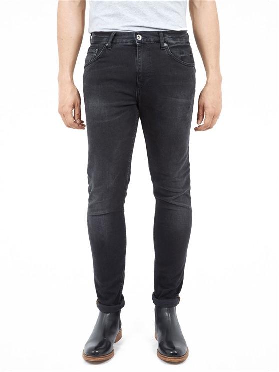 Skinny Six Month Vintage Black Jeans