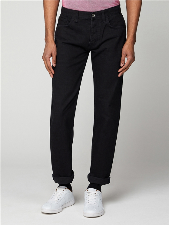 5 Pocket Straight Black Jean