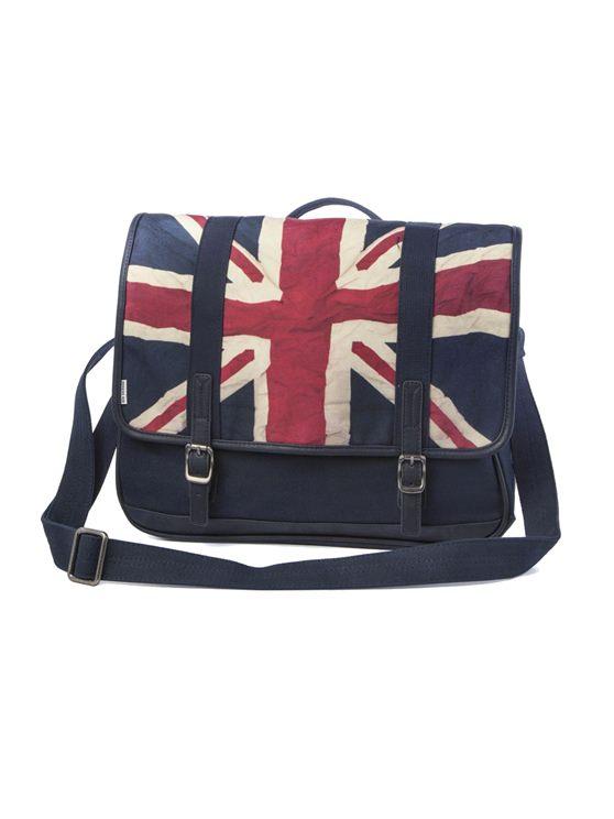 Union Jack Canvas Messenger Bag
